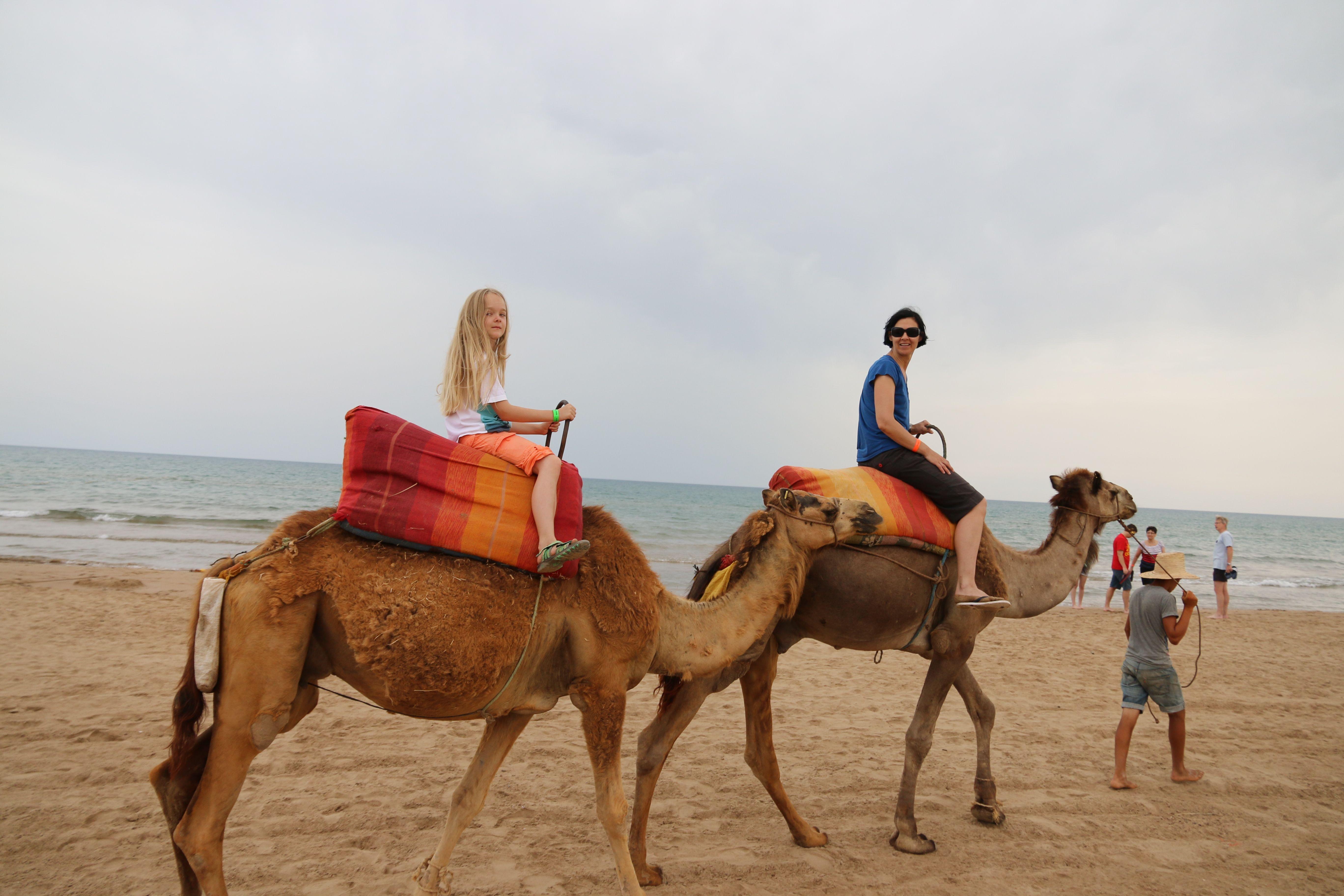 Kamelreiten mit Mama