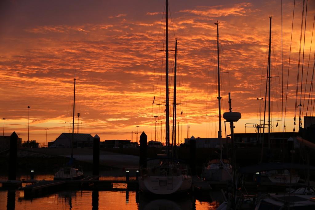 Sonnenuntergang über Puerto Americas, Cadiz