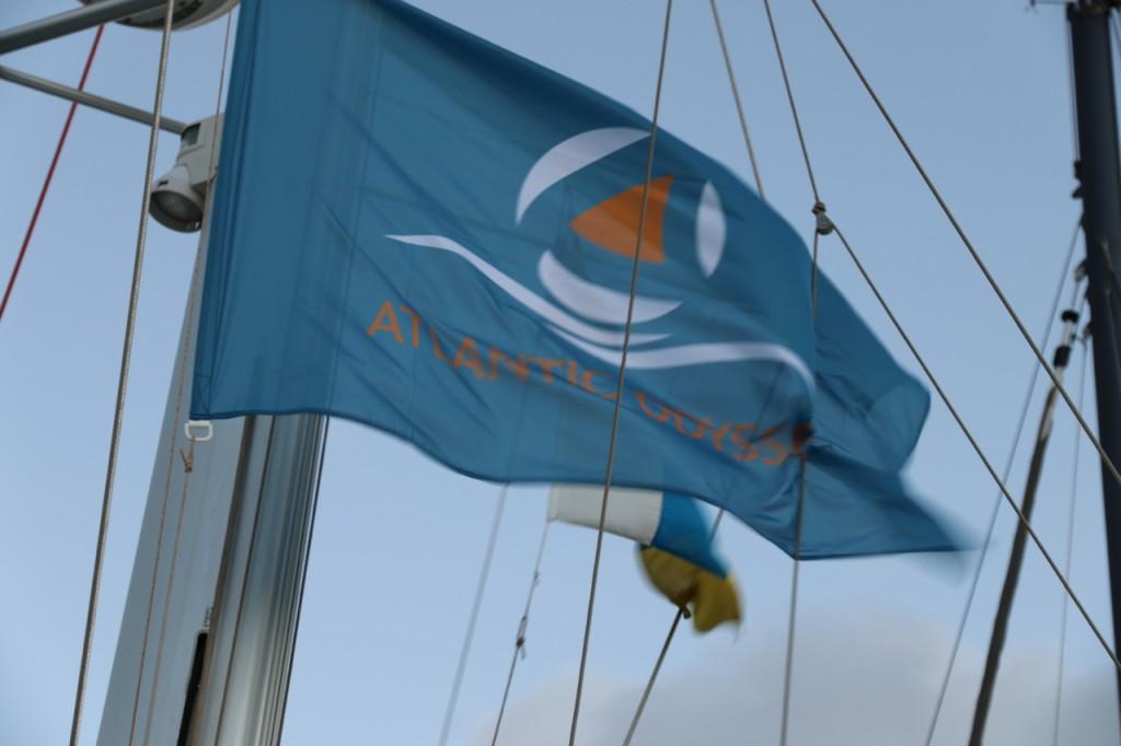 Die Flagge wird gehisst