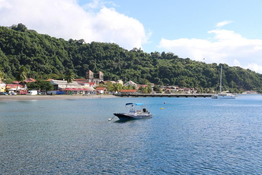 Ein Blick auf den Südteil der Stadt St. Pierre