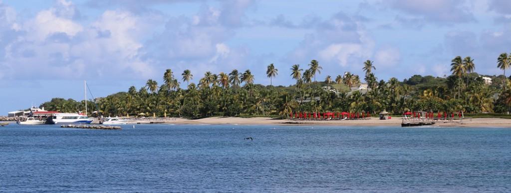 Der Strand von Nevis. Managed Caribbean Feeling. Für Kreuzfahrer und US-Anwälte