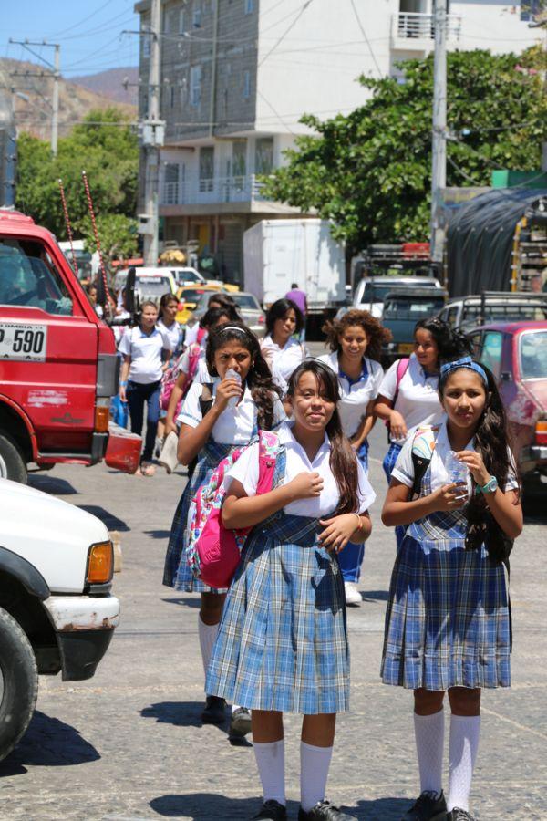 Schulschluß in Santa Marta