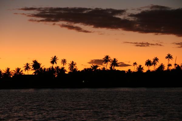 Sonnenuntergang am Atoll: Wir gehen davon aus, dass es nicht mehr besser wird