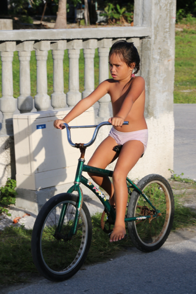Was dem Marqueser das Pferd ist hier das Fahrrad