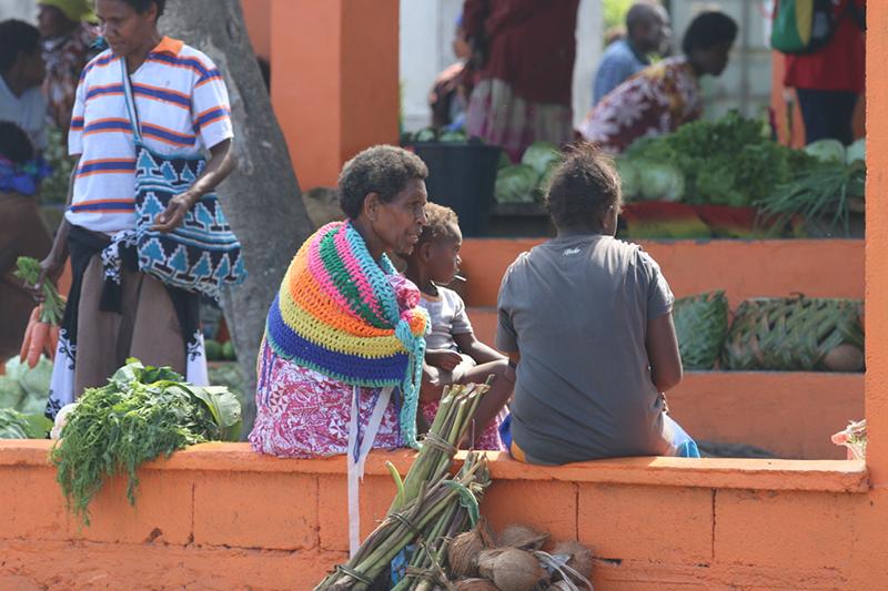 Einige der Marktfrauen