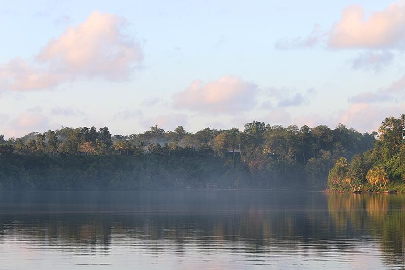 Morgendlicher Ausblick von unserem Ankerplatz
