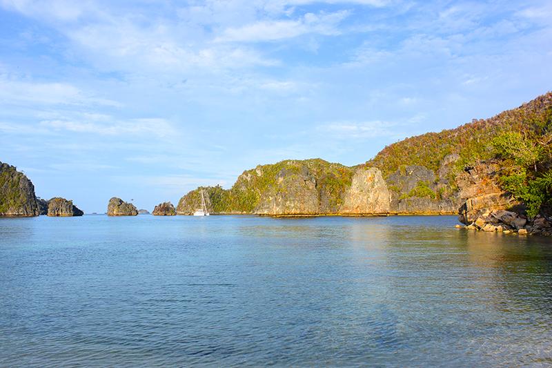Misool trägt die Grandesse von Raja Ampat bis in den Süden von West Papua