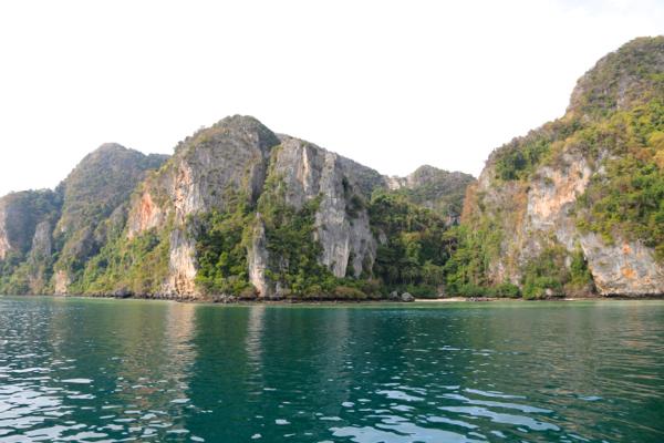 Die Inselstrände kurz nach sieben am Morgen