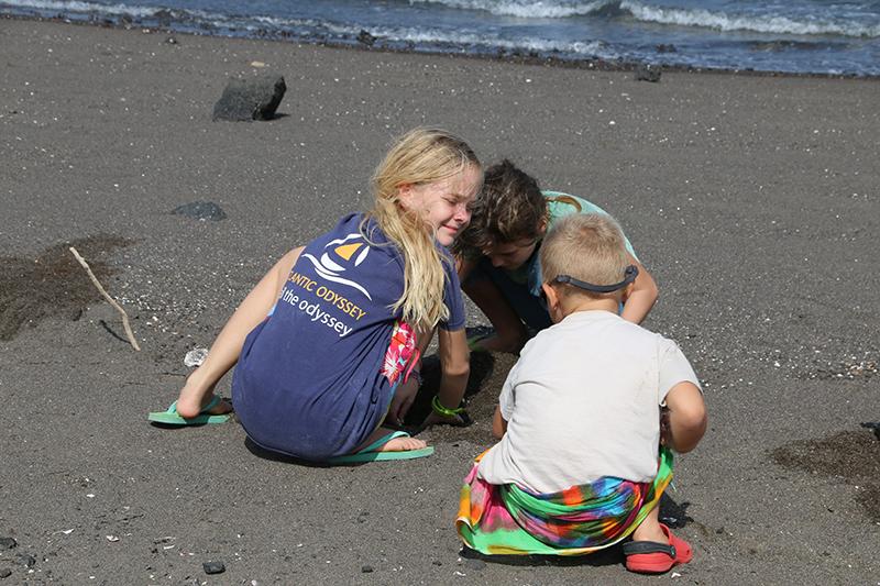 Im Sand spielen kann man überall, soviel ist klar