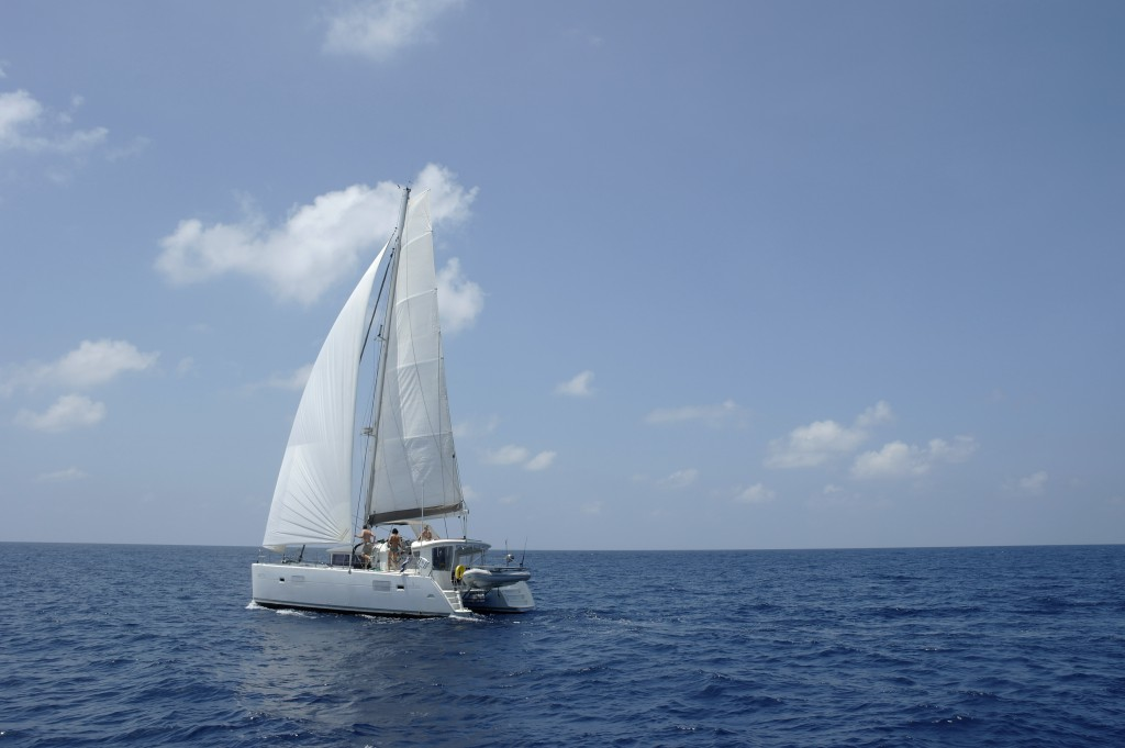 Alytes südlich von Socotra mit Code Zero und Großsegel