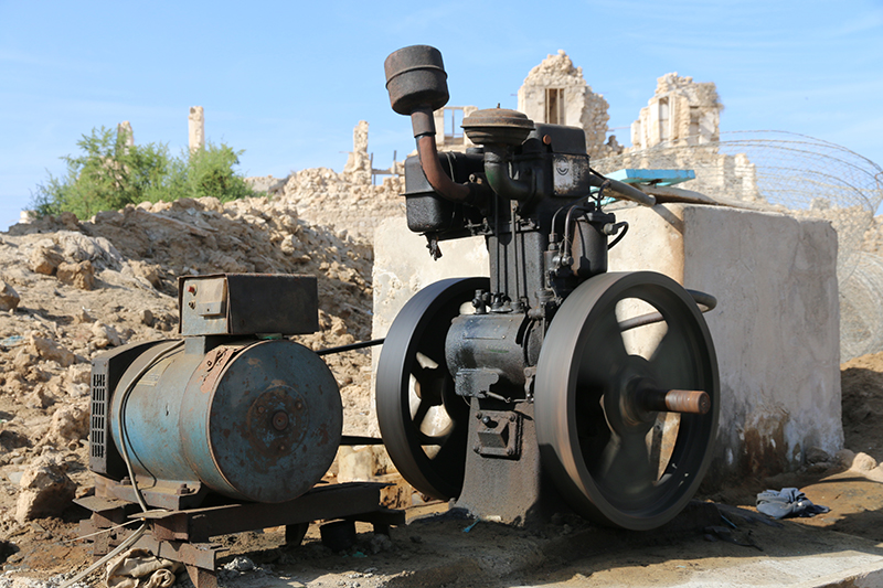 Motor: Indisch, Generator: Chinesisch. Baujahr: 1955