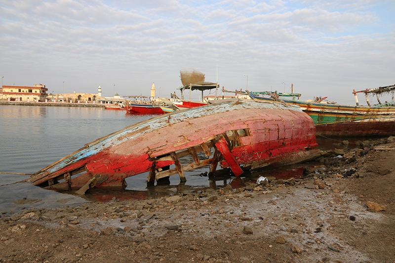 Die meisten Boote in Suakin sind in bestem Zustand. Aber dieses hatte eine morbid-photogene Romantik