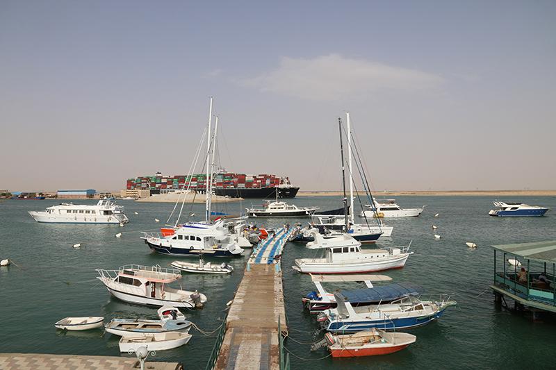 Der Yacht-Club von Port Said. Mittendrin statt nur dabei.